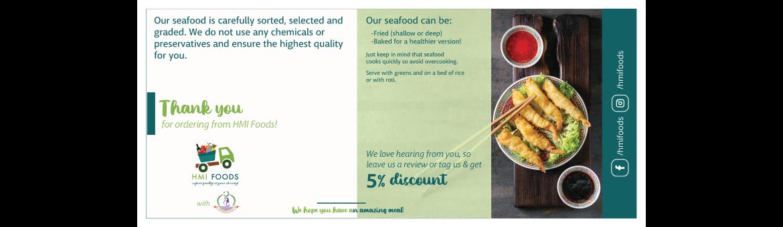 HMI Foods HMI Foods 1170 x 340 Portfolio image Thank you card